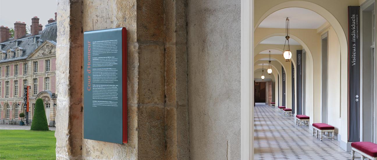 BANNIÈRES DE LA COUR D'HONNEUR ET ACCUEIL DU MUSÉE